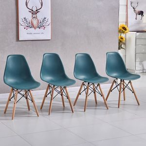 Ospi Lot De 4 Chaises Design Contemporain Style Scandinave De Salle