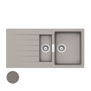 EVIER DE CUISINE Évier granit gris béton Schock LOKTI 1 bac 1-2 - 1