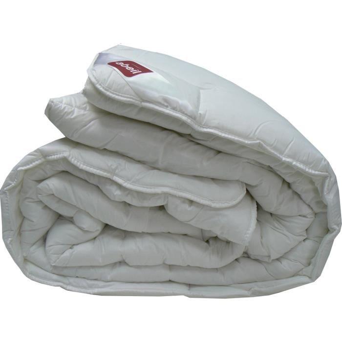 ABEIL Couette chaude 100% coton Bio Confort Sensation 140x200 cm blanc