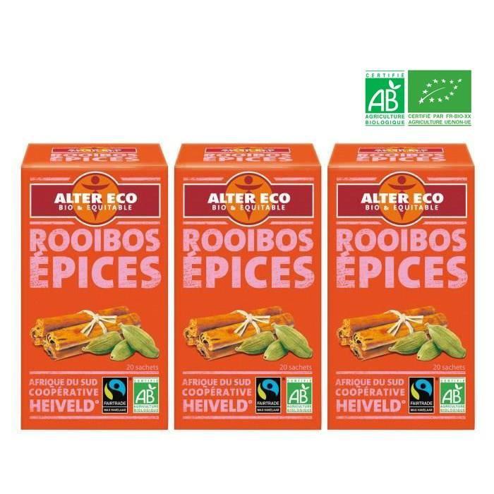 ALTER ECO Rooïbos aux épices Bio - 3x 40 g