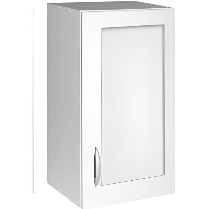Meuble cuisine haut 40 cm 1 porte vitrée OXANE - Achat / Vente ...