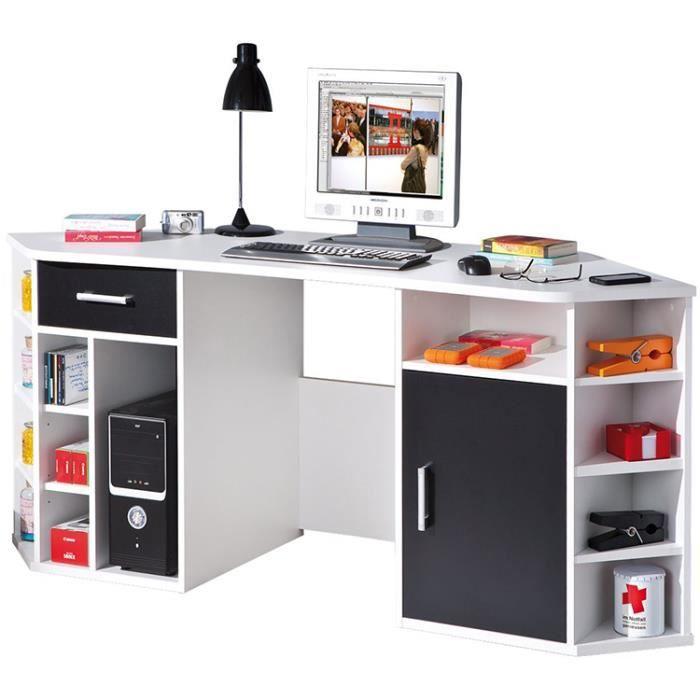 bureau a angle blanc