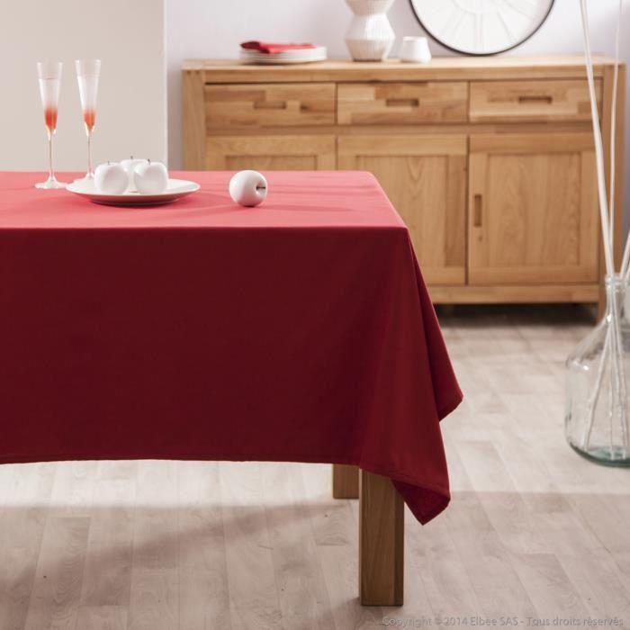Nappe rectangulaire unie 100% coton enduit traité teflon GARANCE ...