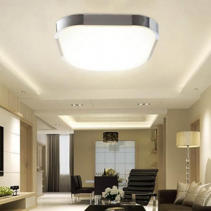 Assez Plafonnier LED salon de plafond Cuisine LED plafonnier lampe de  FU05