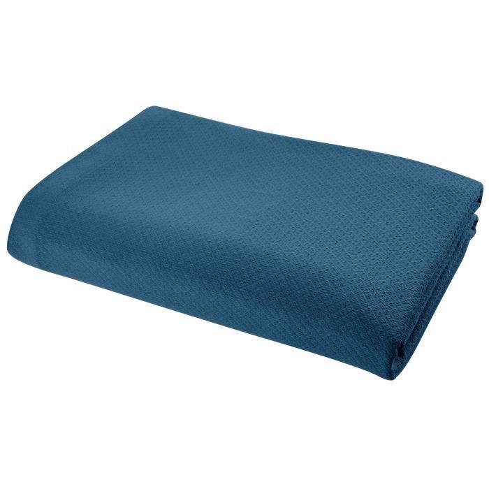 VENT DU SUD Couvre lit ARTEMIS 100% coton   180x250 cm   Violet
