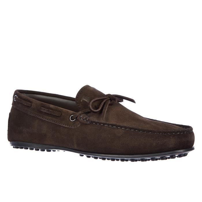 Mocassins homme en daim laccetto city gommino Tod's