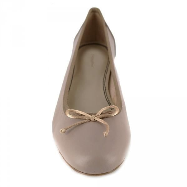 Ballerine J.Bradford Cuir Taupe JB-MONICA - Couleur - Taupe