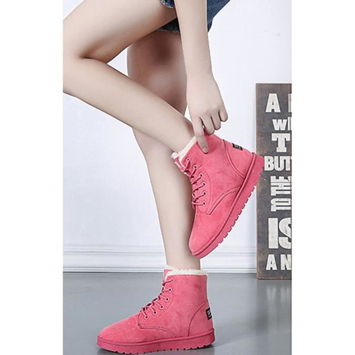 Tomwell Femme Hiver Chaudes Bottines Footwear Sexy Chaussures Flats Snow Boots q1Kqk