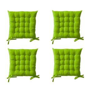 TODAY Lot de 4 assises matelassées 16 points 100% coton 40x40 cm foug?re