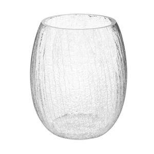 VASE - SOLIFLORE Atmosphera - Vase rond en verre craquelé H 28 cm T