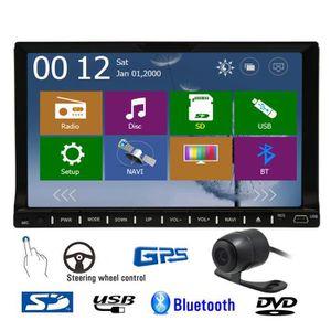 AUTORADIO FM AM Autoradio Lecteur DVD de voiture Bluetooth A