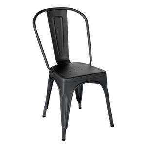chaise metal industrielle noir achat vente chaise. Black Bedroom Furniture Sets. Home Design Ideas