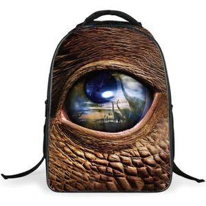 SAC À DOS INFORMATIQUE Cartable Dinosaure Grand œil Sacs à dos scolaires