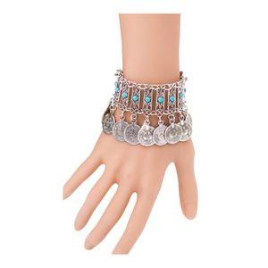 BRACELET - GOURMETTE Bijoux Coin Boho turc Antique femmes Bracelet Trib