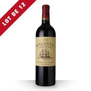 VIN ROUGE 12X Château Malartic-Lagravière 2014 Rouge 75cl AO