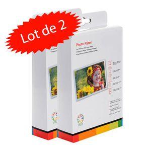 PAPIER IMPRIMANTE Lot de 2 boites de papier Photo 10x15 cm Brillant