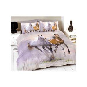 housse de couette cheval achat vente housse de couette. Black Bedroom Furniture Sets. Home Design Ideas