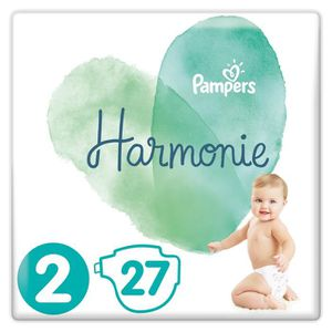 COUCHE PAMPERS Harmonie Taille 2, 4-8 kg, 27 Couches