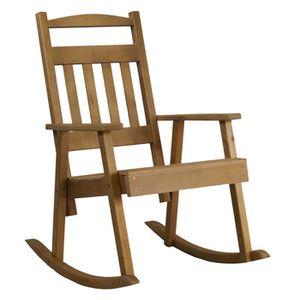 FAUTEUIL Rocking-chair bois Key west couleur bois fumé - H