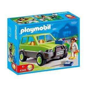 FIGURINE - PERSONNAGE Playmobil - 4345 - Vétérinaire avec 4x4
