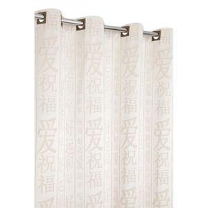 RIDEAU Rideau Jacquard Aspect Coton Motif Asiatique