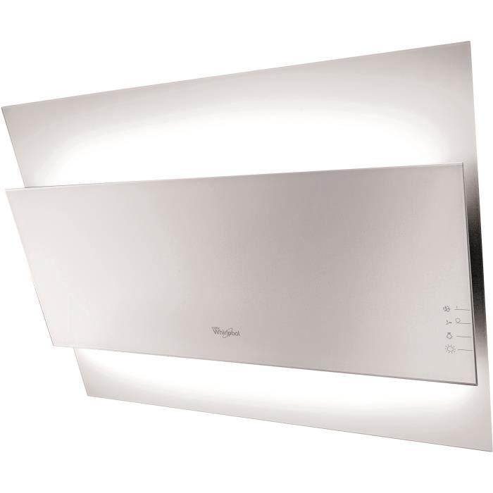 WHIRLPOOL AKR457AL - Hotte - Recyclage ou Evacuation - 660m3 air max / h - 62 dB max - 3 vitesses - L 60 - Noir