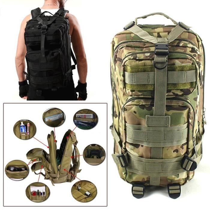 s38 Camping Bag Outdoor tactique militaire Hommes Sac à dos Randonnée Trekking Sacs à dos
