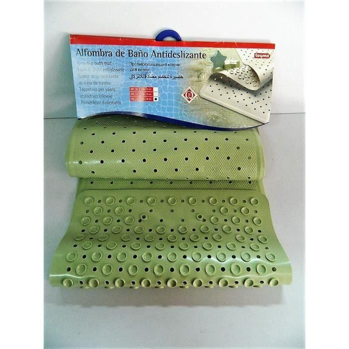 tapis de bain vert antidérapant de grande taille 97x36cm douche