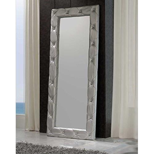 Moderne miroir dressing cuir argent achat vente for Miroir rectangulaire argent