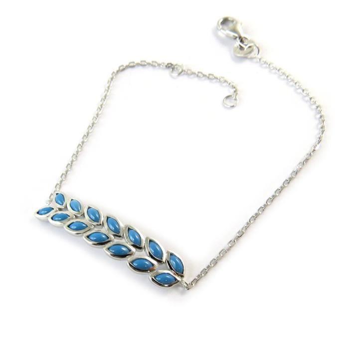 Bracelet argent Navajos (rhodié)- Les Trésors De Lily [N9245]