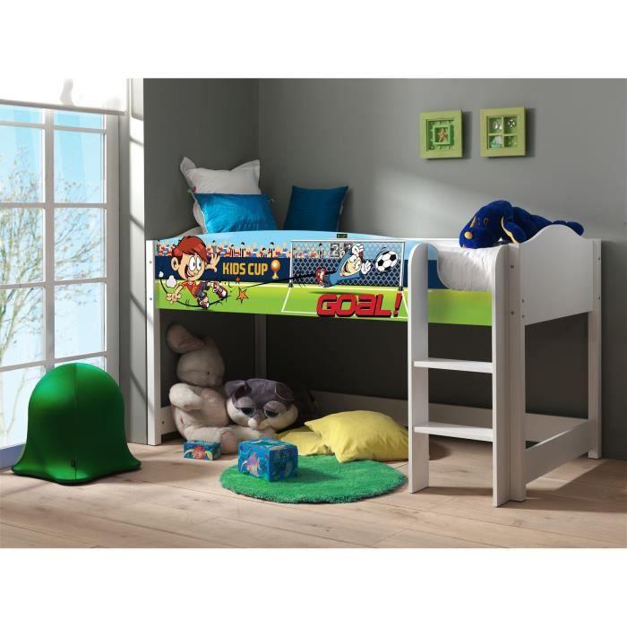 lollipop lit enfant mezzanine imprim football achat. Black Bedroom Furniture Sets. Home Design Ideas