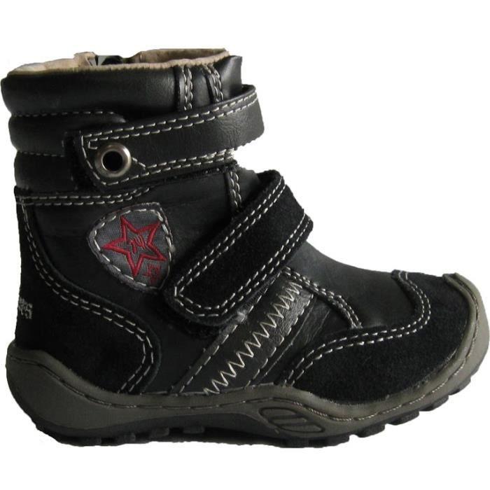 Chaussures montantes noires à scratchs
