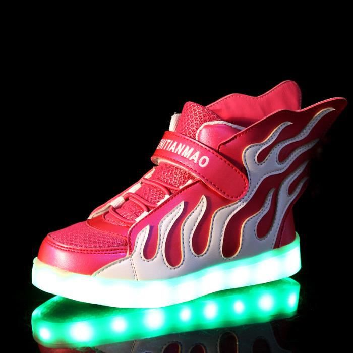 Recharge USB 7 couleurs chaussures basses lumin... wrgUAlE