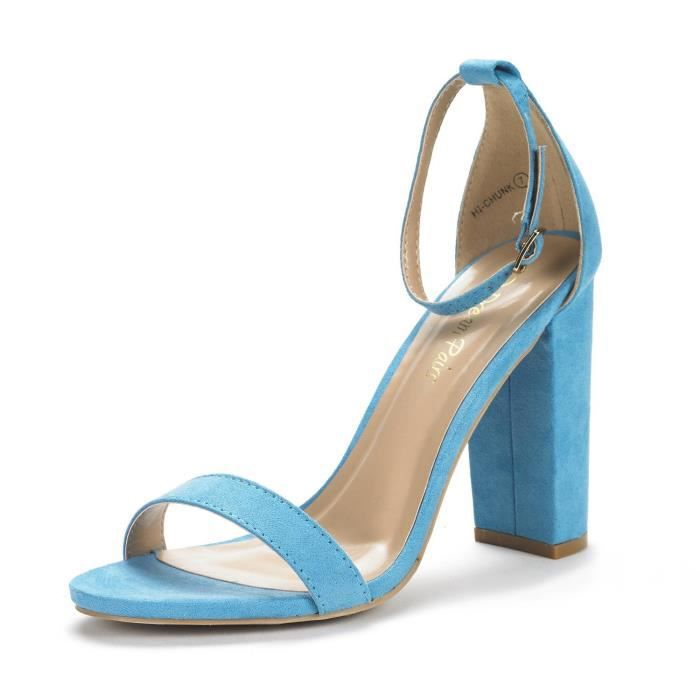 Perforated Chunky Heel - Dressy, Trendy, Casual - Slingback Heel Mule - Gf56 By B69MJ Taille-41