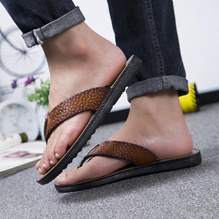 Nouveaux Été Créatif Simple Hommes Mode Sandales Chaussures De La nYqwvRRd