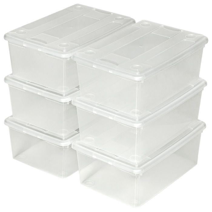 5575c85e8a414 48 Boites de Rangement à Chaussures Plastique Empilables