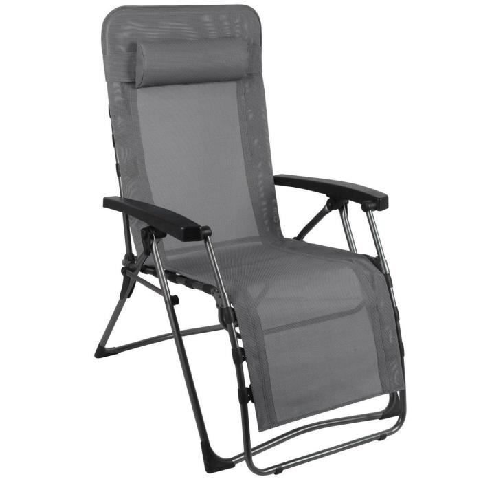 CHAISE DE CAMPING WESTFIELD Fauteuil Relax Lounger Smoky