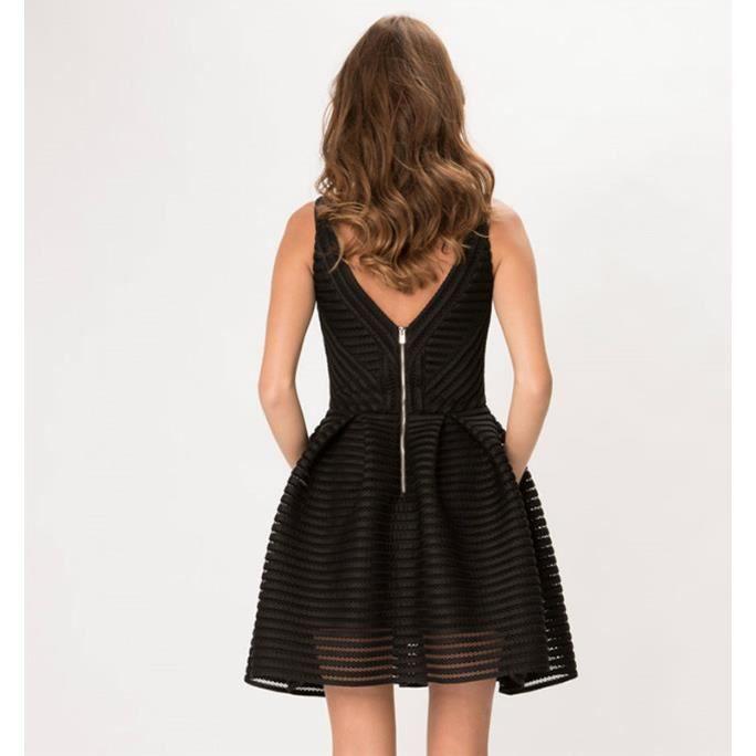 Femmes New creux-out Grille robe dété sans man...