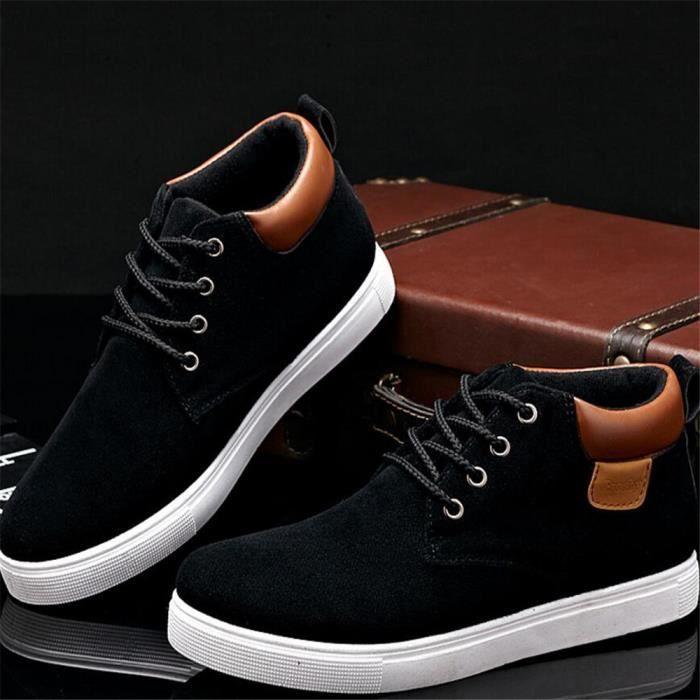 Hommes Chaussure de plein air les souliers montants Hiver Classique Durable Chaussures Marque De Luxe Grande Taille 39-44 LL5KOi1d7