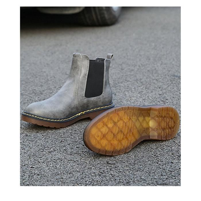 Tomwell Femmes Chaussure Mode Bottine Chelsea Boots Bout Rond Low Heel Slip on Moto Bootie hy5Ulca