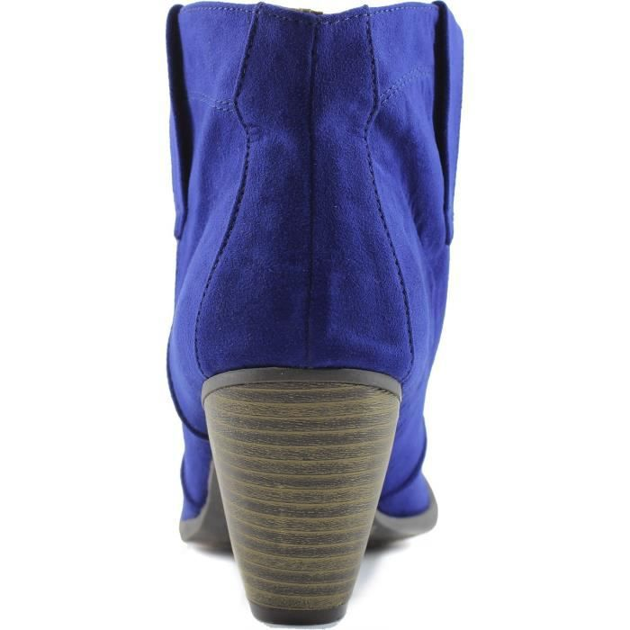 T8LTV 36 Taille Round Bootie 53 Western Priority 1 Ankle Cowboy Toe Fashion 2 Boots SP6Bzq