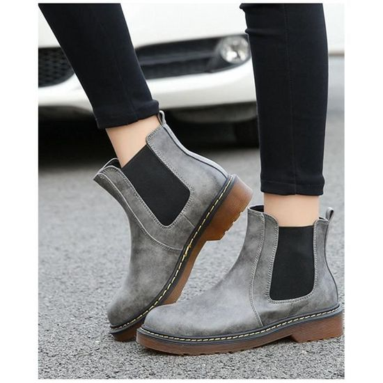 Tomwell Mode Low Rond Bottine Chaussure Femmes Bout Chelsea Boots AAxP1rqRw