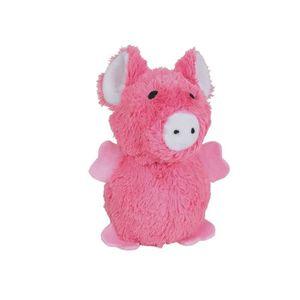 NOBBY Jouet pour chien peluche avec balles cochon rose 18cm