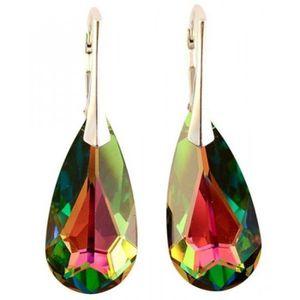 PEINTURE VERRE-VITRAIL e-Crystal CTDLB2421 Silber Ohrring Teardrop Vitrai