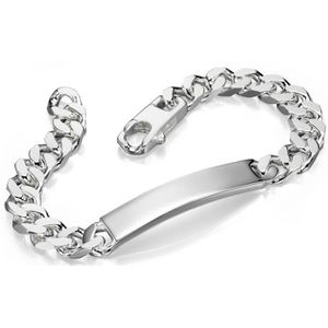 BRACELET , GOURMETTE , D4545 , Bracelet prénom à graver en argent 925/
