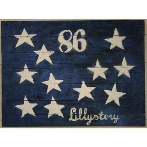TABLEAU - TOILE Tableau Déco Plaque Lillystory Flag - Bois - 60x80
