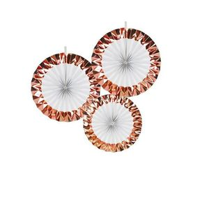 CHAMPAGNE Rosaces Blanc et Rose Champagne x3 Rose Gold