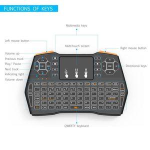 CLAVIER D'ORDINATEUR i8 Plus sans fil 2,4 GHz Mini clavier avec pavé ta