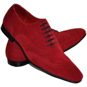 chaussure rouge homme pas cher