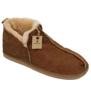 CHAUSSON - PANTOUFLE Boot style en peau de mouton pantoufle avec une fi 11dd156bbec8